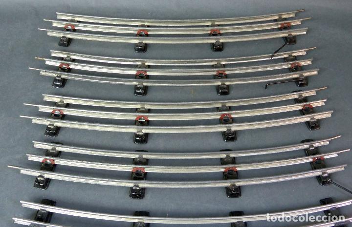 Trenes Escala: 6 tramos vías tren Payá calamina curvas escala 0 usadas - Foto 2 - 69249581