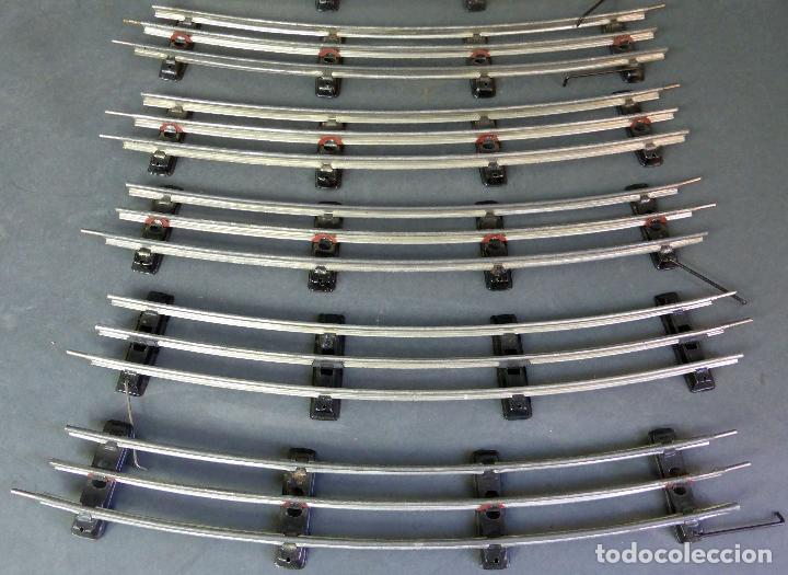 Trenes Escala: 6 tramos vías tren Payá calamina curvas escala 0 usadas - Foto 3 - 69249581