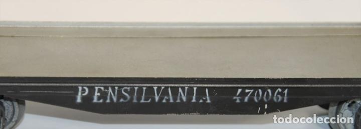 Trenes Escala: VAGÓN DE MERCANCIAS PENSILVANIA. METAL. JOSFEL. ESCALA 0. ESPAÑA. CIRCA 1940. - Foto 7 - 69260989