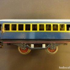 Trenes Escala: VAGON AZUL TREN PAYÁ. ESCALA 0. BUEN ESTADO. Lote 72557367