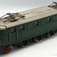 Trenes Escala: LOCOMOTORA VERDE JOSFEL 0 AÑOS 40 - 50 NUEVA SIN USO. Lote 75238039