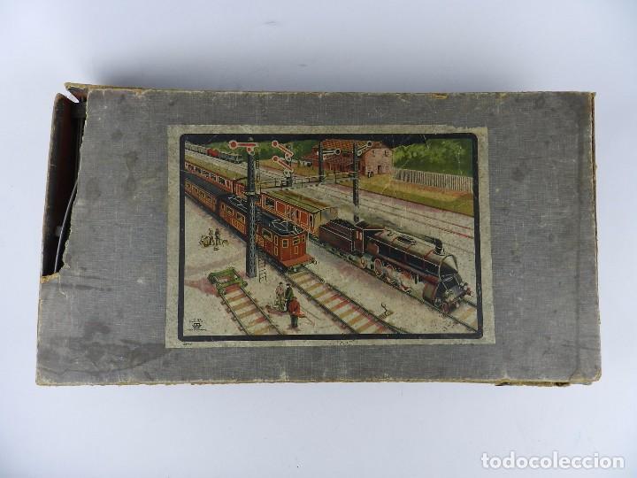 Trenes Escala: TREN BING ESCALA O, MADE IN GERMANY, REALIZADO EN HOJALATA LITOGRAFIADA, MUY COMPLETO CON SUS VAGONE - Foto 3 - 80829795