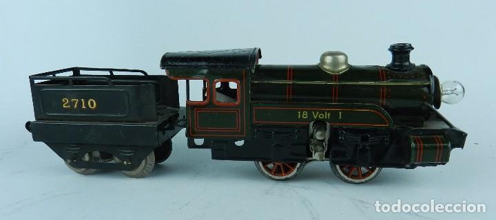 Trenes Escala: TREN BING ESCALA O, MADE IN GERMANY, REALIZADO EN HOJALATA LITOGRAFIADA, MUY COMPLETO CON SUS VAGONE - Foto 5 - 80829795
