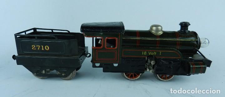 Trenes Escala: TREN BING ESCALA O, MADE IN GERMANY, REALIZADO EN HOJALATA LITOGRAFIADA, MUY COMPLETO CON SUS VAGONE - Foto 6 - 80829795