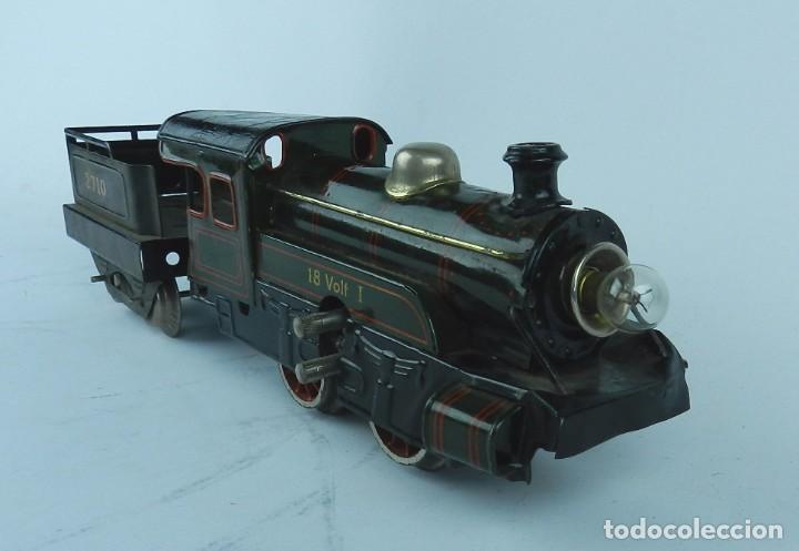 Trenes Escala: TREN BING ESCALA O, MADE IN GERMANY, REALIZADO EN HOJALATA LITOGRAFIADA, MUY COMPLETO CON SUS VAGONE - Foto 7 - 80829795