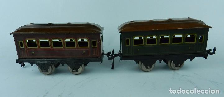 Trenes Escala: TREN BING ESCALA O, MADE IN GERMANY, REALIZADO EN HOJALATA LITOGRAFIADA, MUY COMPLETO CON SUS VAGONE - Foto 16 - 80829795