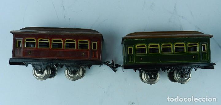 Trenes Escala: TREN BING ESCALA O, MADE IN GERMANY, REALIZADO EN HOJALATA LITOGRAFIADA, MUY COMPLETO CON SUS VAGONE - Foto 17 - 80829795
