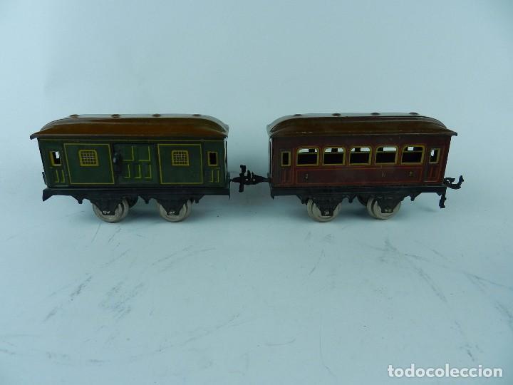 Trenes Escala: TREN BING ESCALA O, MADE IN GERMANY, REALIZADO EN HOJALATA LITOGRAFIADA, MUY COMPLETO CON SUS VAGONE - Foto 18 - 80829795