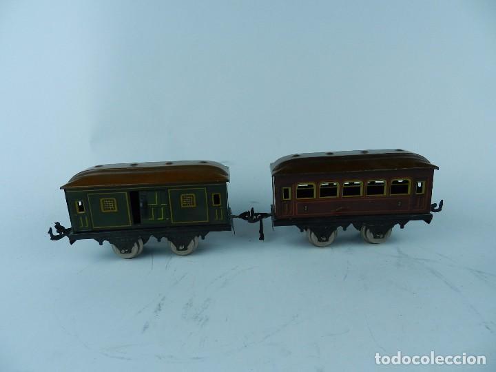 Trenes Escala: TREN BING ESCALA O, MADE IN GERMANY, REALIZADO EN HOJALATA LITOGRAFIADA, MUY COMPLETO CON SUS VAGONE - Foto 19 - 80829795
