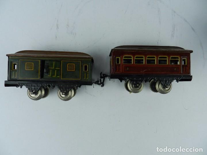 Trenes Escala: TREN BING ESCALA O, MADE IN GERMANY, REALIZADO EN HOJALATA LITOGRAFIADA, MUY COMPLETO CON SUS VAGONE - Foto 20 - 80829795