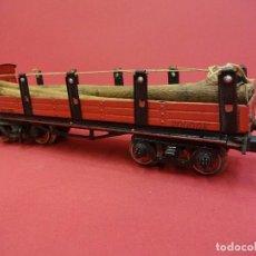 Trenes Escala: VAGÓN MADERERO DE HOJALATA PAYA. AÑOS 1930S. ESCALA 0. MUY BONITO. Lote 84436968