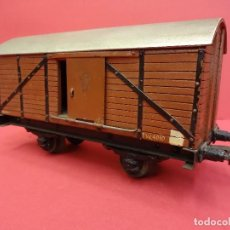 Trenes Escala: VAGÓN DE TRANSPORTE MANAMO. ÉPOCA A DETERMINAR. ESCALA 0. MUY BONITO. Lote 119073456