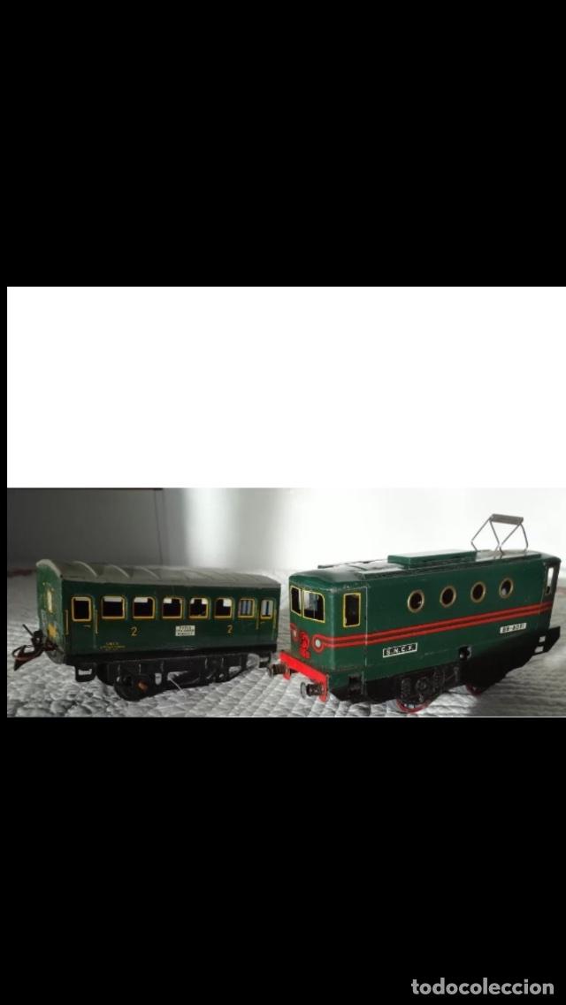 LOCOMOTORA AÑOS 40 A CUERDA (Juguetes - Trenes Escala 0)