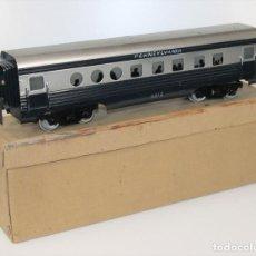 Trenes Escala: VAGÓN DE PASAJEROS. PENNSYLVANIA. METAL. JOSFEL. ESCALA 0. FRANCIA. CIRCA 1940.. Lote 68044705