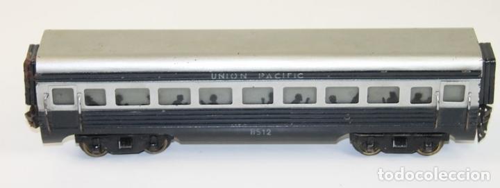 Trenes Escala: VAGÓN DE PASAJEROS UNION PACIFIC EN METAL. ESCALA 0. JOSFEL. ESPAÑA. CIRCA 1940. - Foto 5 - 89730492