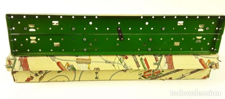 Trenes Escala: LOTE DE 4 PIEZAS CONSTRUCCIÓN. HOJALATA. ESCALA 0. PAYA. ESPAÑA. CIRCA 1950. - Foto 9 - 90333052