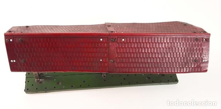 Trenes Escala: LOTE DE 4 PIEZAS CONSTRUCCIÓN. HOJALATA. ESCALA 0. PAYA. ESPAÑA. CIRCA 1950. - Foto 28 - 90333052