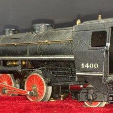 Trenes Escala: LOCOMOTORA UNION PACIFIC 1400 CON TENDER. ESC 0. PAYA(?) ESPAÑA. CIRCA 1930.. Lote 69609913