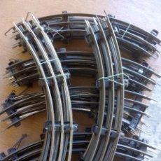 Trenes Escala: LOTE DE 5 VÍA ESCALA 0 PAYA AÑOS 50 CURVA CERRADA 33CM. Lote 145747598