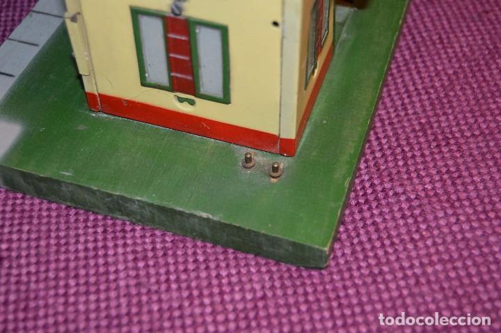 Trenes Escala: ANTIGUA ESTACIÓN DE TREN PAYA ESCALA 0 hojalata y madera -- AÑOS 50 -- REF. 1260 -- ESCUCHO OFERTAS - Foto 12 - 94815923
