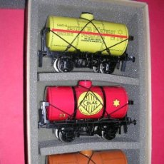 Trenes Escala: ACE. TRES VAGONES TANQUE ESTILO ANTIGUO .ESCALA O. Lote 97954535