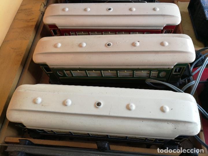 Trenes Escala: TREN COMPLETO DE PAYA EN SU CAJA ORIGINAL - LOCOMOTORA CON TENDER 987, COCHE BUTACAS, CAMA Y SALON - - Foto 6 - 102848215