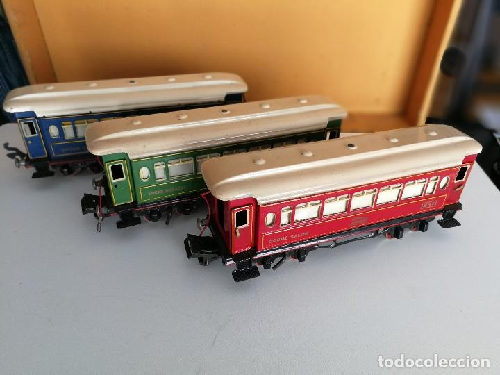 Trenes Escala: TREN COMPLETO DE PAYA EN SU CAJA ORIGINAL - LOCOMOTORA CON TENDER 987, COCHE BUTACAS, CAMA Y SALON - - Foto 8 - 102848215