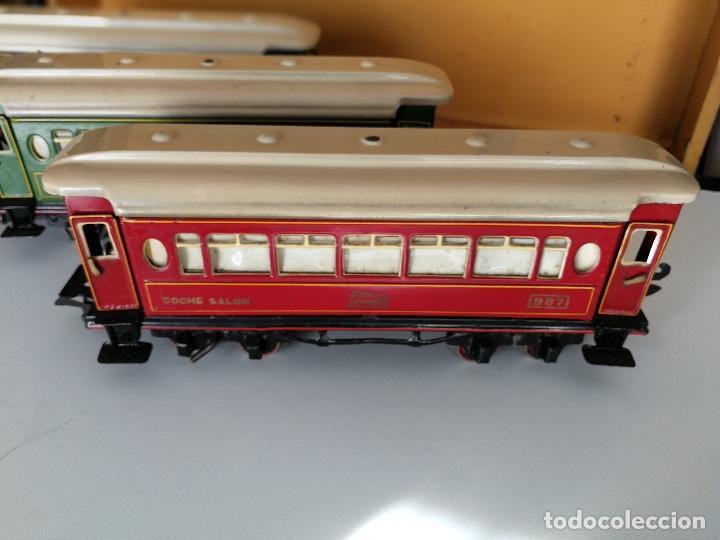 Trenes Escala: TREN COMPLETO DE PAYA EN SU CAJA ORIGINAL - LOCOMOTORA CON TENDER 987, COCHE BUTACAS, CAMA Y SALON - - Foto 9 - 102848215