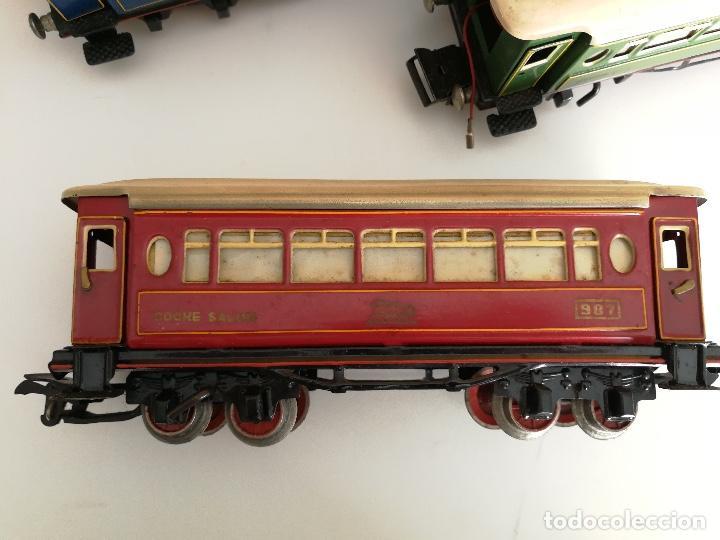 Trenes Escala: TREN COMPLETO DE PAYA EN SU CAJA ORIGINAL - LOCOMOTORA CON TENDER 987, COCHE BUTACAS, CAMA Y SALON - - Foto 10 - 102848215