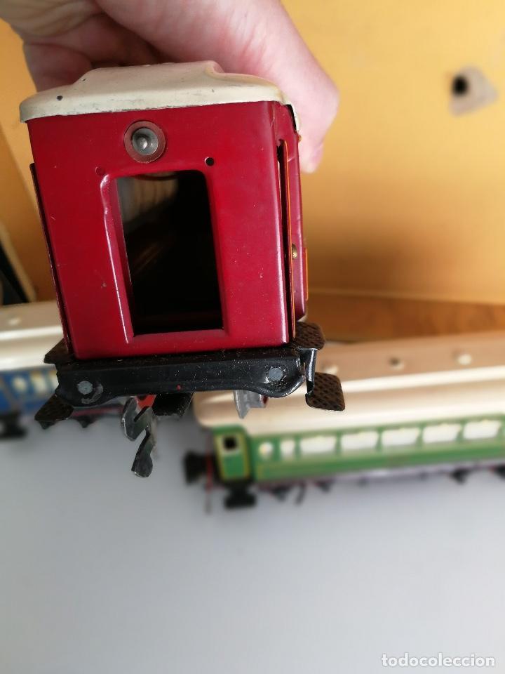 Trenes Escala: TREN COMPLETO DE PAYA EN SU CAJA ORIGINAL - LOCOMOTORA CON TENDER 987, COCHE BUTACAS, CAMA Y SALON - - Foto 12 - 102848215