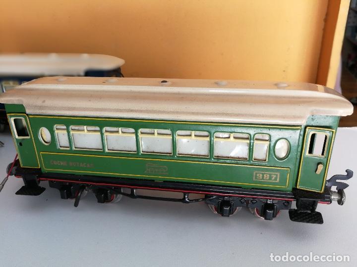 Trenes Escala: TREN COMPLETO DE PAYA EN SU CAJA ORIGINAL - LOCOMOTORA CON TENDER 987, COCHE BUTACAS, CAMA Y SALON - - Foto 16 - 102848215