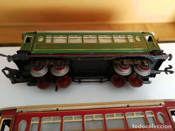 Trenes Escala: TREN COMPLETO DE PAYA EN SU CAJA ORIGINAL - LOCOMOTORA CON TENDER 987, COCHE BUTACAS, CAMA Y SALON - - Foto 20 - 102848215