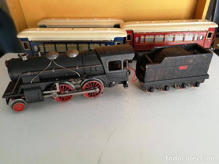 Trenes Escala: TREN COMPLETO DE PAYA EN SU CAJA ORIGINAL - LOCOMOTORA CON TENDER 987, COCHE BUTACAS, CAMA Y SALON - - Foto 21 - 102848215