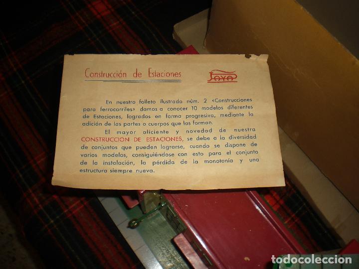 Trenes Escala: PAYA ESTACION DE TREN PAYA GRANDE CON CELOSIA , JUGUETE ANTIGUO, TREN ANTIGUO - Foto 7 - 105616459