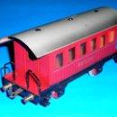 Trenes Escala: VAGÓN COCHE PASAJEROS CON BALCONCILLOS, *METÁLICO*, ELECTROTREN ESC. 0, ORIGINAL AÑOS 50.. Lote 111064676