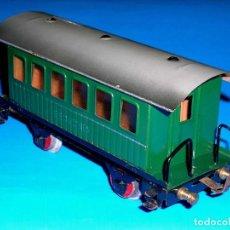 Trenes Escala: VAGÓN COCHE PASAJEROS CON BALCONCILLOS, *METÁLICO*, ELECTROTREN ESC. 0, ORIGINAL AÑOS 50.. Lote 111065131