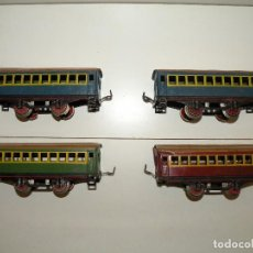 Trenes Escala: ANTIGUOS VAGONES VIAJEROS DE HOJALATA RICO ESCALA 0. Lote 118073523
