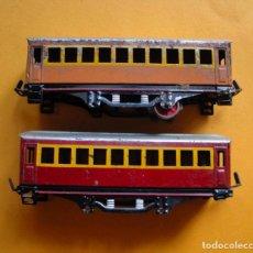 Trenes Escala: PAR DE VAGONES DE PAYÁ. ESCALA 0. Lote 140432525