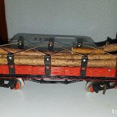 Trenes Escala: VAGÓN MADERERO DE HOJALATA PAYA. AÑOS 1930 ESCALA 0. MUY BONITO. Lote 131280595
