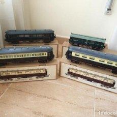 Trenes Escala: LOTE 4 VAGONES TREN ORIENT EXPRESS PAYA EN CAJA ESCALA 0. Lote 132900462