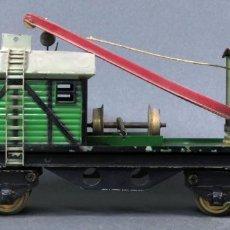 Trenes Escala: VAGÓN GRÚA TALLER JOSFEL ESCALA 0 4 EJES AÑOS 40. Lote 132901934