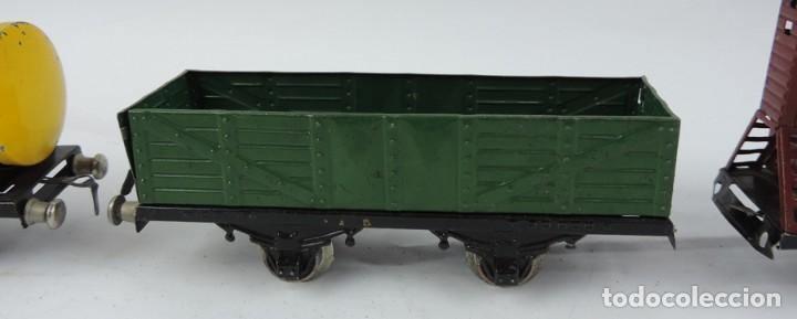 Trenes Escala: 3 Vagones Rico, Vagón Cisterna Campsa y dos Vagones de mercancias, Años 50. Escala 0. Ver todas las - Foto 3 - 133880330