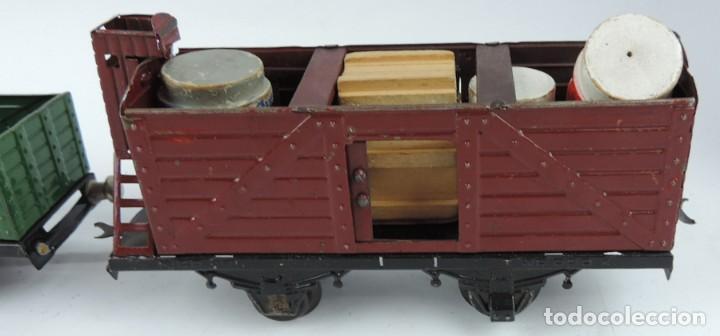 Trenes Escala: 3 Vagones Rico, Vagón Cisterna Campsa y dos Vagones de mercancias, Años 50. Escala 0. Ver todas las - Foto 4 - 133880330