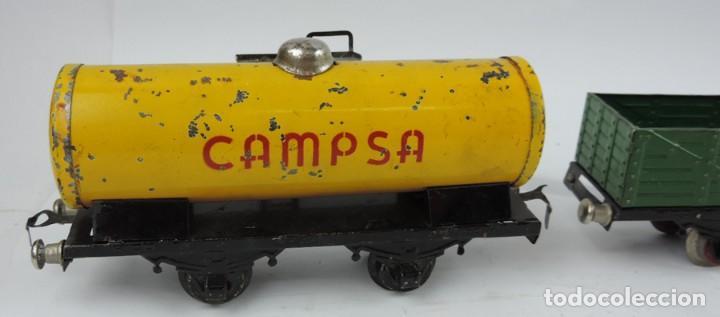 Trenes Escala: 3 Vagones Rico, Vagón Cisterna Campsa y dos Vagones de mercancias, Años 50. Escala 0. Ver todas las - Foto 5 - 133880330