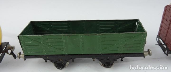 Trenes Escala: 3 Vagones Rico, Vagón Cisterna Campsa y dos Vagones de mercancias, Años 50. Escala 0. Ver todas las - Foto 6 - 133880330