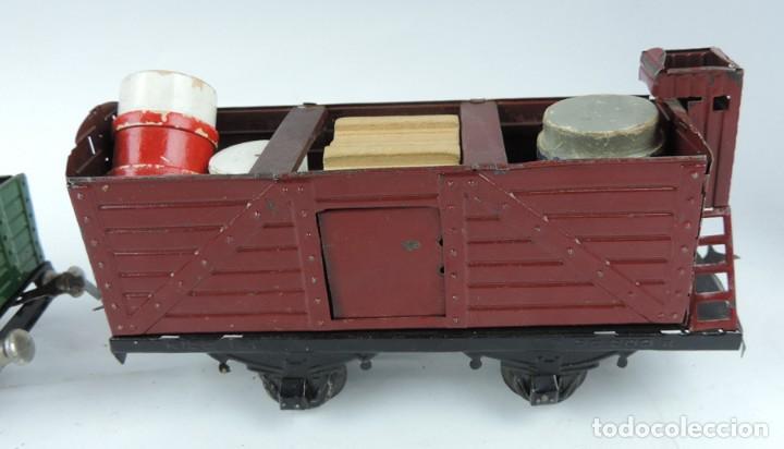 Trenes Escala: 3 Vagones Rico, Vagón Cisterna Campsa y dos Vagones de mercancias, Años 50. Escala 0. Ver todas las - Foto 7 - 133880330