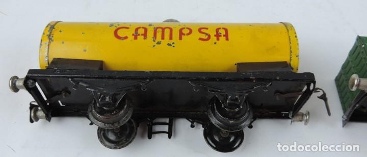 Trenes Escala: 3 Vagones Rico, Vagón Cisterna Campsa y dos Vagones de mercancias, Años 50. Escala 0. Ver todas las - Foto 8 - 133880330