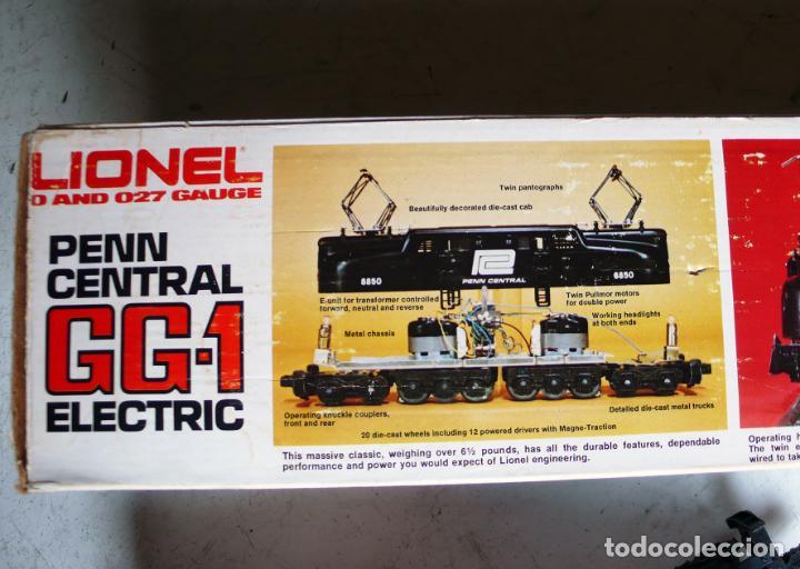 Trenes Escala: Locomotora Lionel GG1 Penn Central. Años 70. Escala 0. Compatible con Paya - Foto 11 - 144763762