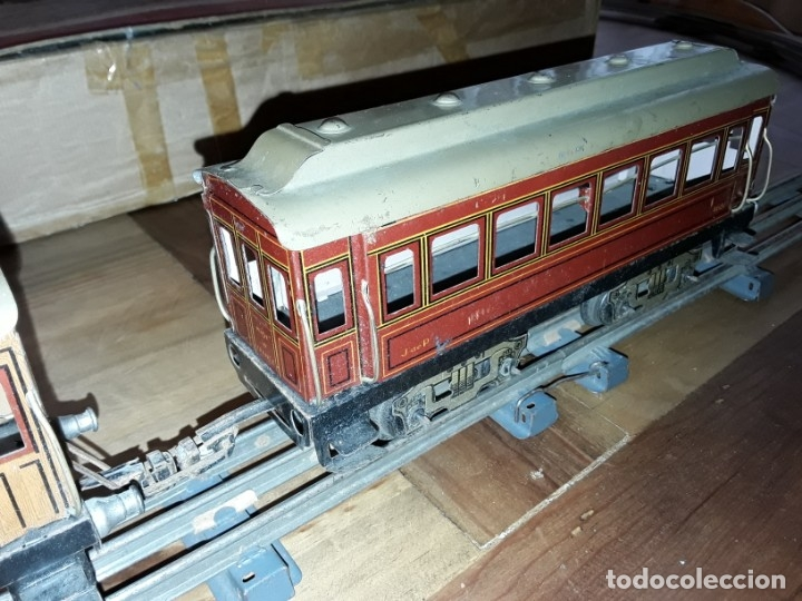 Trenes Escala: Tren J de P, en caja funcionando, cerca de 100 años de antigüedad.125v - Foto 12 - 148339498