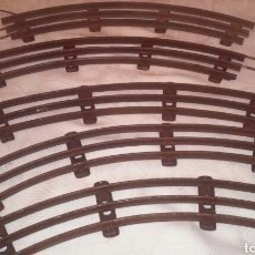Trenes Escala: VIAS CURVAS DE TREN ESCALA 0 (SIN APARENTE MARCA DE FABRICANTE). Lote 149854782